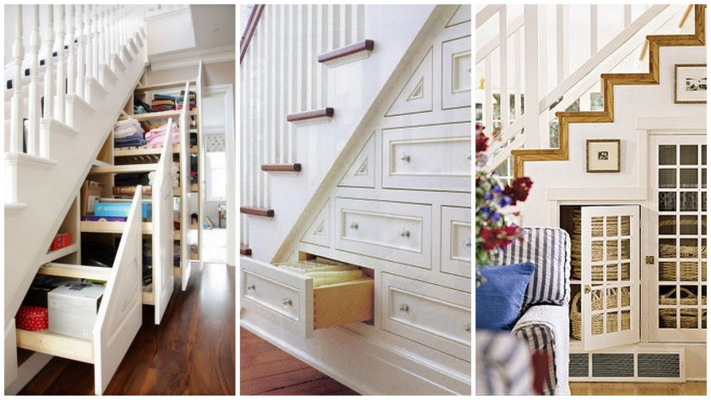 shelves under stairways